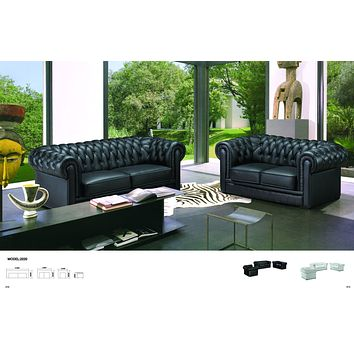 Chesterfield - Leather 1-2-3 Seater Sofa - D