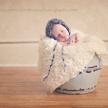 Newborn Boy Blue Bonnet by PetuniaandIvy on Etsy