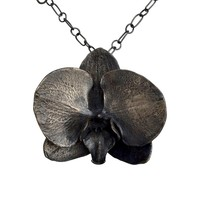 RESERVED Black Orchid Collar Necklace 2 of 3 payments