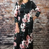 Long Floral Casual Dress