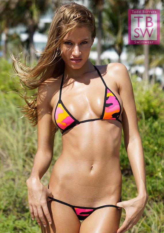 Pink Camo Mini Micro G Thong Bikini From