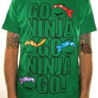 ROCKWORLDEAST - Teenage Mutant Ninja Turtles, T-Shirt, Go Ninja Go Ninja Go