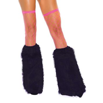 Furry boot covers Neon Green