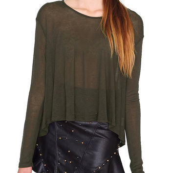 Tea Time Jersey Top - Olive