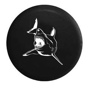 Ocean Shark Attack Jaws RV Camper Jeep Spare Tire Cover
