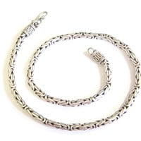 Etruscan Byzantine Chain Necklace Sterling 19 Inches 5mm