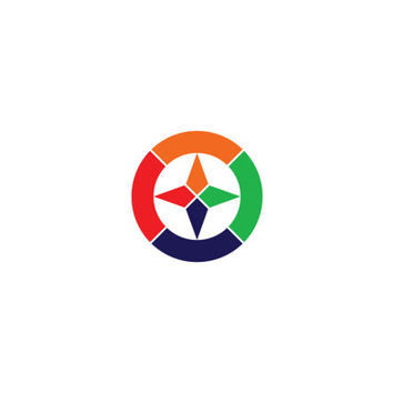 Star and Circle Colorful Logo Design Vector for Your Future Business