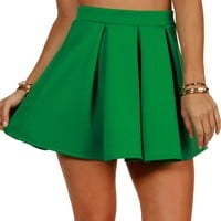 Sale-green Scuba Skater Skirt