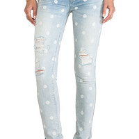 Marc by Marc Jacobs Standard Supply Low Rise Rolled Slim Jean in Lily Dot