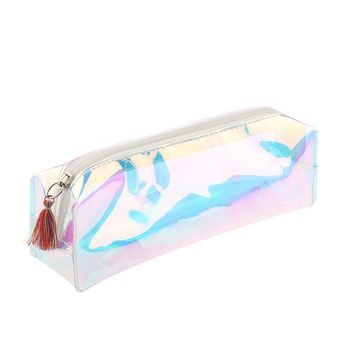 1PC Makeup Tools Kawaii Women Girls Laser Transparent Pencil Case Large Capacity Cosmetic Bag Make Up Pouch Tools Kit
