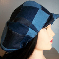 Patchwork Newsboy Cap w/brim apple hat