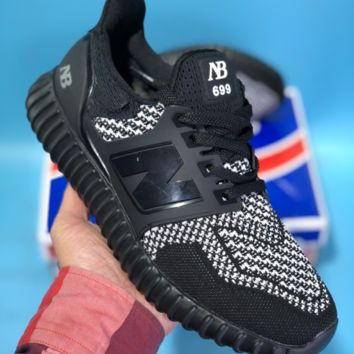 KUYOU New Balance NB WL699 Knit Mesh Breathable Casual Running Shoes Black White