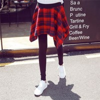 ac DCK83Q Korean Women's Fashion Shirt Plaid Dress Leggings [10402238476]