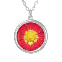 Red and Yellow Flower Necklace
