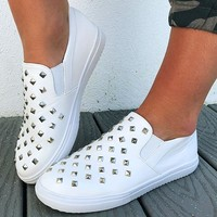 Leave Your Mark Sneakers: White/Silver
