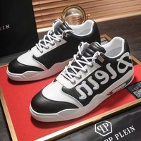 """""""PHILIPP PLEIN"""" Fashion Men Casual Leather Running Sport Shoes Sneakers"""