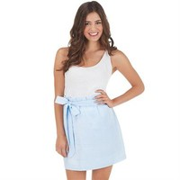 MUDPIE - Blue Seersucker Skirt