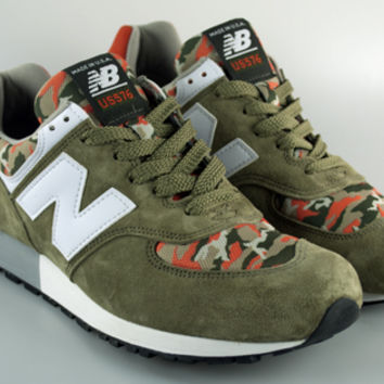 New Balance MADE IN USA® US576CM2 - Olive/Orange