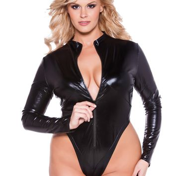 Plus Size Naughty Kitten Bodysuit
