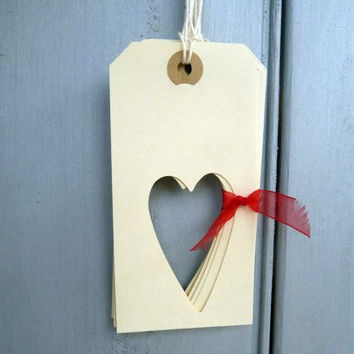 Heart Gift Tags Handmade Heart Gift Wrapping by TheDorothyDays