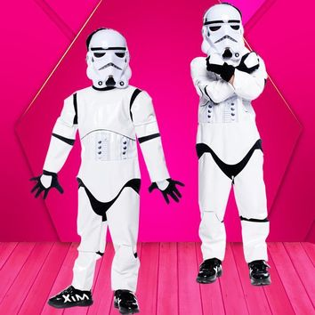 Fantasia Boys Star Wars Cosplay Disfraces Halloween Jedi Costumes Children Christmas Masquerade Purim Carnival Stage play dress