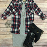 Penny Plaid Top: Red