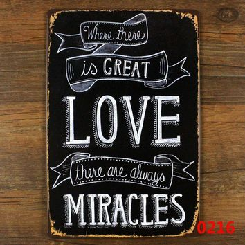 Retro metal tin sign love for home garden vintage decoration , wall Hanging plaque gift love