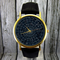 Constellation Watch | Astrology Watch | Space Watch | Ladies Watch | Mens Watch | Gift Idea  | Custom Watch | Fashion Accessory | Zodiac