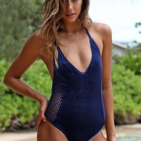 Posh Pua 2016 Velvet Pa'akai One Piece in Channel- Large
