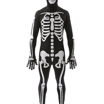 MOONIGHT Halloween Costumes for Men Adult Black Zombie Ghost Costume Cosplay Jumpsuits