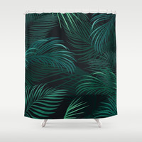 Palm leaves Shower Curtain by printapix