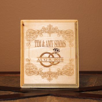 Personalized Marriage Wedding Wood Engraved Wall Plaque Art Sign