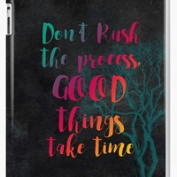 'Don't rush the process good things take time #motivationialquote' iPad Case/Skin by JBJart