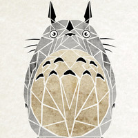 totoro Art Print by Manoou