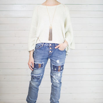 Patched Jogger Jean