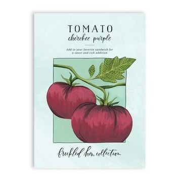 Cherokee Purple Tomato Seed Packet