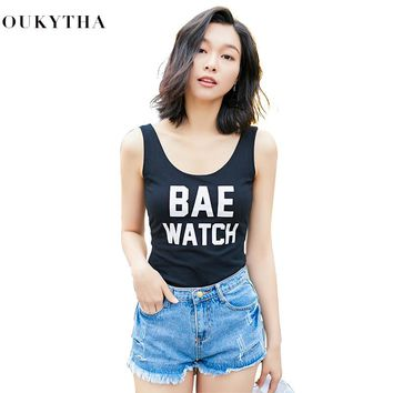 Korean Camisole Vest Woman Clothes Short Fund Letter Reveal Back Sexy Suit-dress Self-cultivation Sleeveless Low Chest Jacket
