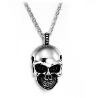 Skull Titanium Stainless Steel Necklace SOS