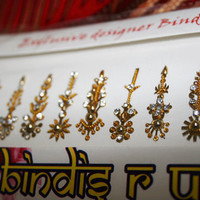 Long Gold Bindi Designer Handmade Weding Face Jewelry