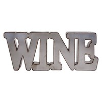 Home Essentials & Beyond ''Wine'' Wall Decor (Grey)