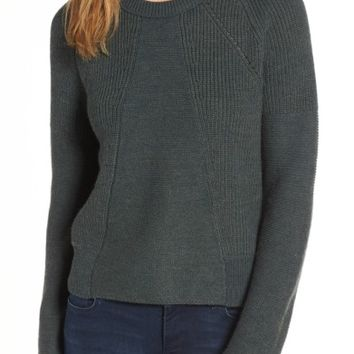 Velvet by Graham & Spencer Engineered Stitch Sweater | Nordstrom