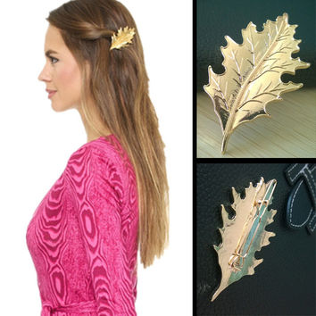 Stylish Leaf Metal Hair Clip Hair Accessories Accessory [8026269831]