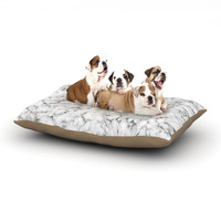 "Will Wild ""Marble"" White Gray Dog Bed"