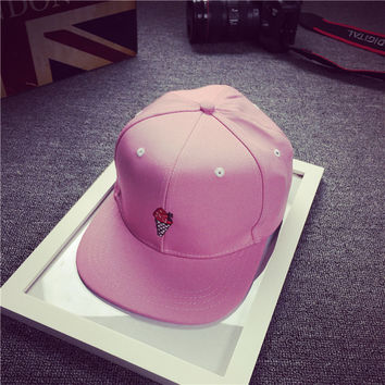 Pink Icecream Embroidered Baseball hat Hat
