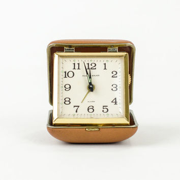 Vintage Phinney Walker Travel Alarm Clock Mad Men Style