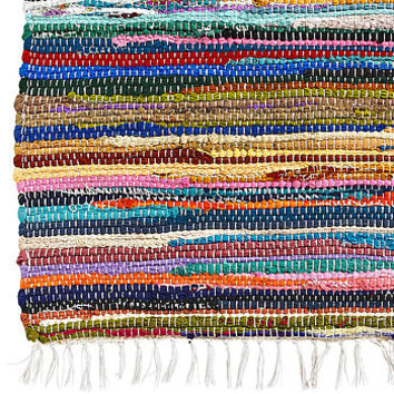 Great Recycled Cotton Rag Rug Runner