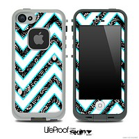 Large Chevron and Floral Lace Skin for the iPhone 5 or 4/4s LifeProof Case