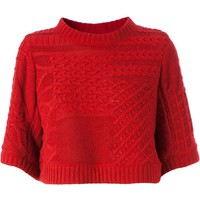 Anrealage cropped cable knit sweater