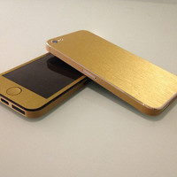 iPhone 5 Gold Brushed Effect Decal Wrap Skins by ALPIDECALS