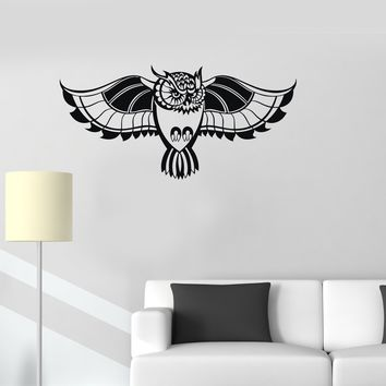 Vinyl Decal Owl Bird Tribal Room Decoration Wall Stickers Mural Unique Gift (ig2742)